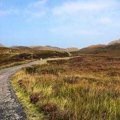 Single track driving along the Ardnamurchan peninsula