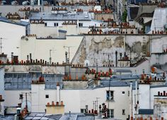 Surreal and Abstract Parisian Rooftops by Michael Wolf #inspiration #photography