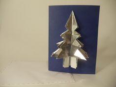 Carte de Noël - Sapin argent