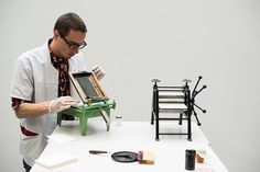 The Smallest Printing Company: Miniature Printing Presses For a Mobile Printing Studio screen printing printmaking letterpress