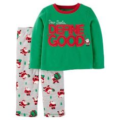 Baby Boys' 2-Piece Fleece Pajama Set Green Define Good - Just One You™ Made by Carter's®