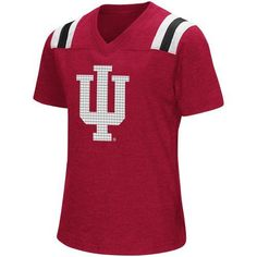 Colosseum Athletics Girls' Indiana University Rugby Short Sleeve T-shirt (Red Medium, Size Small) - NCAA Licensed Product, NCAA Youth Apparel at Ac...