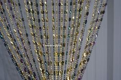 ACRYLIC MULTICOLOUR & GOLD BEADED DOOR CURTAIN FLY SCREEN BY LEONARDO rf65 | eBay