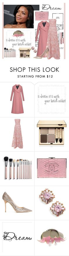 """The Actress"" by jakenpink ❤ liked on Polyvore featuring Marni, Elie Saab, Clarins, Chanel, Jimmy Choo, Kate Spade, Too Faced Cosmetics, women's clothing, women and female"