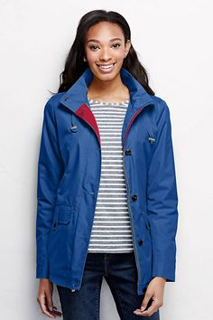 Women's Storm Raker Jacket from Lands' End The hood is not detachable