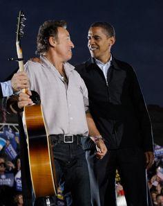 Bruce Springsteen and President Barack Obama