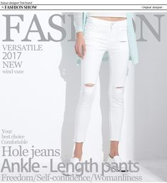 30d857a7eda Stretch Jeans Femme Denim Capri Ripped Jeans For Women 2017 Spring Woman  Blue Destroyed Jeans Feminino Pencil Pantalon GAREMAY-in Jeans from Women s  ...