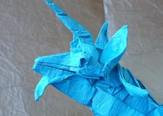 Unicórnio de Satoshi Kamyia Origami, Japanese Words, Paper Leaves, People, Stuff Stuff, Paper Folding