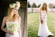 So much to love.  Floral wreath in her hair, and could that bow be any prettier?