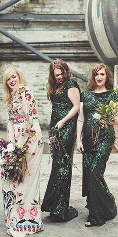 glam metallic bridesmaid dresses 6