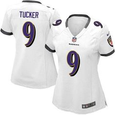 Nike NFL Baltimore Ravens 9 Justin Tucker Limited Women White Road Jersey  Sale 384842687
