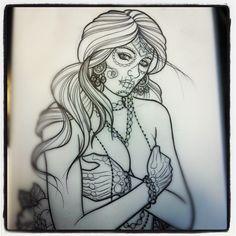 Dave Oltneau tattoo sketch