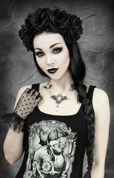 Mexican goth bride. Follow http://www.pinterest.com/vglondon/ for the BEST trends in victorian vintage goth glory!