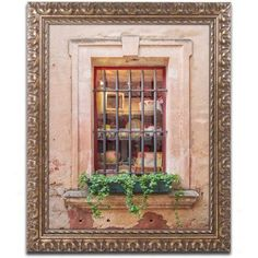Trademark Fine Art Window Shopping Canvas Art by Michael Blanchette Photography Gold Ornate Frame, Size: 11 x 14, Assorted