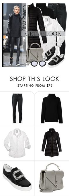 Olivia Palermo by goreti on Polyvore featuring moda, Emporio Armani, Moncler, Yves Saint Laurent, Roger Vivier, Karen Walker, GetTheLook, CelebrityStyle and modelstyle