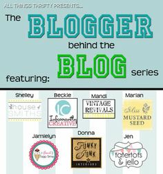 Blogging 101 Series: Blogger behind the Blog....Free advice from bloggers with some time under their belt.  Questions answered and ideas for you.  It was an appx 12 week course that has been done, allowing you to go thru at your own pace.