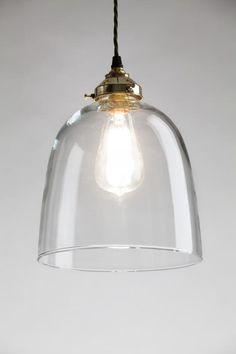 Bell blown glass pendant, Blown glass pendants - Holloways of Ludlow