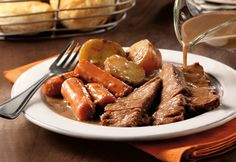 Campbell's Slow Cooker Savory Pot Roast Recipe