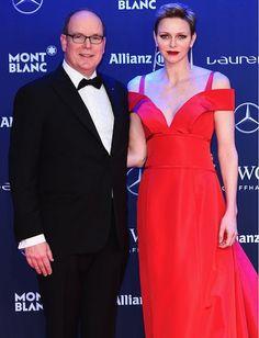 Prince Albert and Princess Charlene at  2017 Laureus Awards