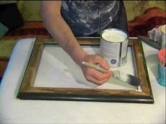 ▶ How to create your own gorgeous shabby chic finish for a mirror or frame - demonstration - YouTube