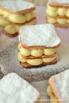 Fromage ou Dessert ? ... DESSERT !!!: Mille-feuille à la crème diplomate très très vanil...