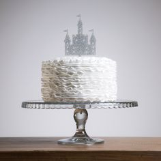 Princess Glitter Fairy tale Castle cake topper.