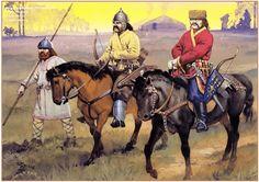 Ávaros. guerrero eslavo, jinete, noble. s. V