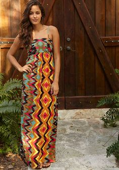 Mecca Printed Maxi Dress, love this pattern