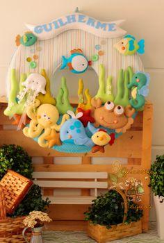 Magical Girasoles: Partido Quitanda - Toppers para mesa de centro Bebe Frutinhas