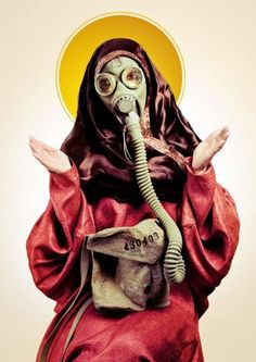 Strangely Strange But Oddly Normal Gas Mask Art, Masks Art, Gas Masks, Madonna, Photos Originales, Arte Obscura, Bd Comics, Photocollage, Vogue Covers