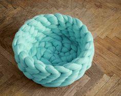 panier pour votre chat arm knitting