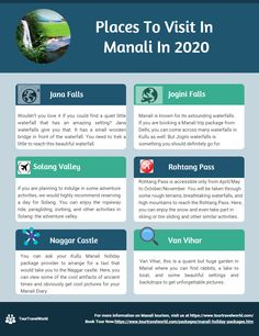Manali, the hill station in Himachal Pradesh is one of the most frequented tour destination in India and see a huge footfall consistently lasting through the year. Regardless of whether one needs to flee from the city's late spring heat, appreciate the cool snowfall, or basically grasp the lavish green slopes after downpours, Manali is the spot to be. Travel Deals, Budget Travel, Honeymoon Tour Packages, Kullu Manali, India Gate, Hill Station, Beautiful Places To Visit, Tourism, Packaging