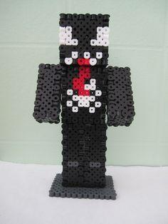 Venom from Spiderman Minecraft Skin 3D_Perler Beads