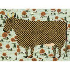 Folk Art Cow Quilt Block Pattern