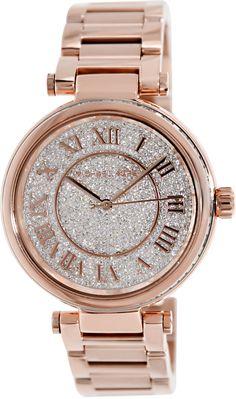 Michael Kors MK5868 Skylar Rose Goldtone Stainless Steel Two-Hand Bracelet  Rose Gold Watch Michael bafad7c788