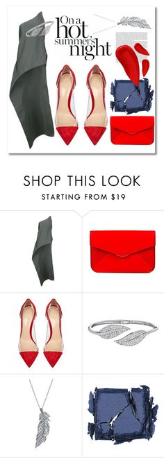 """""""All I see is red"""" by drerak ❤ liked on Polyvore featuring Narciso Rodriguez, Fendi, Gianvito Rossi, Penny Preville, Stone Paris, Surratt, Lipstick Queen, fashionset and Fashiondesigners"""