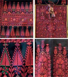 traditional Palestinian embroidery patterns Palestinian Embroidery, Hungarian Embroidery, Ribbon Embroidery, Cross Stitch Embroidery, Cross Stitch Needles, Chain Stitch, Cross Stitch Designs, Cross Stitch Patterns, Fabric Patterns