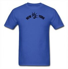 Camiseta New York Men's Liberty Men T-Shirt Blue #Camiseta #New York