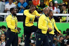 Usain Bolt Photos - Gold medalists Asafa Powell, Yohan Blake, Nickel Ashmeade…