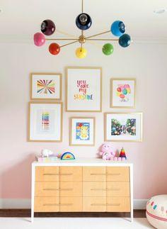 Rainbow Room Kids, Rainbow Bedroom, Rainbow Nursery Decor, Girl Bedroom Designs, Nursery Design, Design Bedroom, Kids Room Lighting, Kids Room Chandelier, Kids Bedroom Lights