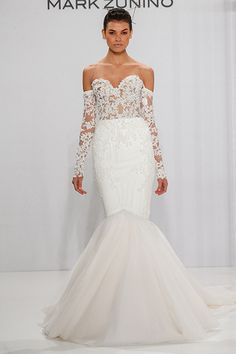 Wedding gown by Mark Zunino for Kleinfeld.