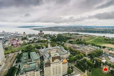 Observatoire Capitale gives you a 360-degree view of Quebec City and its nearby surroundings.