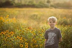 Gorgeous field, gorgeous sunset, gorgeous boy! {Sunny Skaggs Photography}