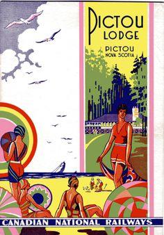 Advertising Poster, Canadian National Railways Pictou Lodge 1930 Pictou, Nova Scotia
