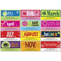 A Fun YearDeluxe Address Labels(12 Designs) $8.99