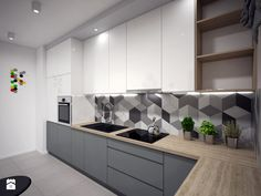 modern kitchen room are available on our internet site. Kitchen Room Design, Kitchen Cabinet Design, Modern Kitchen Design, Living Room Kitchen, Home Decor Kitchen, Kitchen Layout, Interior Design Kitchen, Kitchen Furniture, Home Kitchens