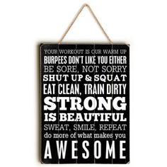 Brayden Studio Fitness Motivation Textual Art Size: H x W x D Fitness Motivation Photo, Weight Loss Motivation, Fitness Tips, Weight Loss Images, Weight Loss Tips, Shut Up And Squat, Decor Pillows, Make It Yourself, Workout