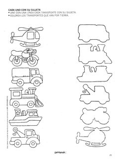 Vehicle pattern matchup, free printable