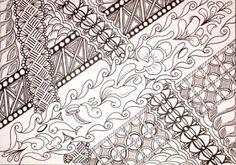 Lieschens-Bilder: Zentangle 305  Challenge #235