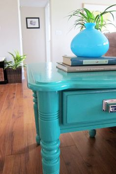 DIY Painted End Tables